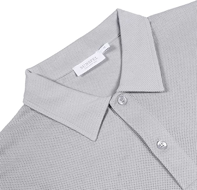 Sunspel - Polo - para hombre gris gris claro medium: Amazon.es ...