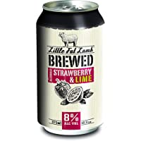 Little Fat Lamb Brewed Strawberry & Lime 375ml - 10 Pack