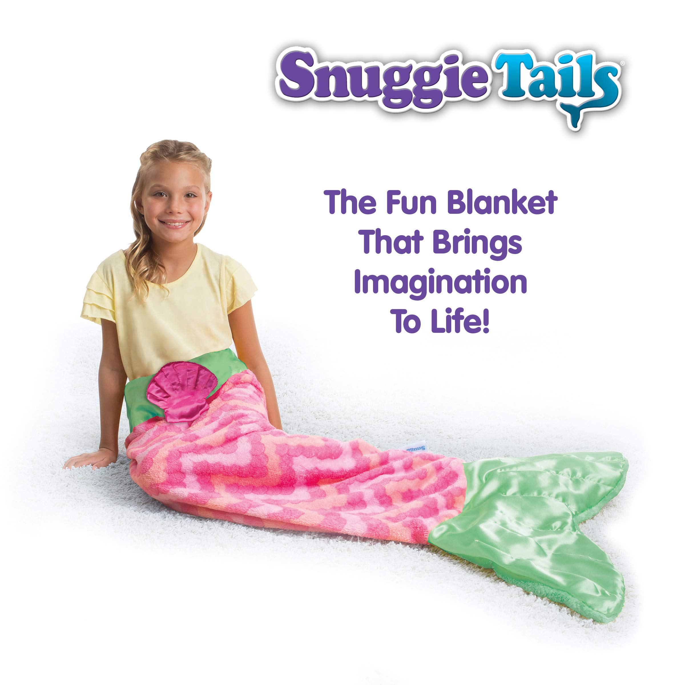 Snuggie Tails Allstar Innovations Mermaid Blanket for Kids (Pink), As Seen on TV by Snuggie Tails (Image #2)