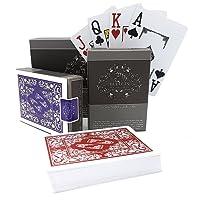 2 jeux de cartes de poker en plastique professionnelles imperméables de la marque Bullets Playing Cards avec deux signes de coin - Jeux de carte de luxe avec l'index Jumbo - Cartes de jeu professionnelles haut de gamme pour le poker Texas Hold'em