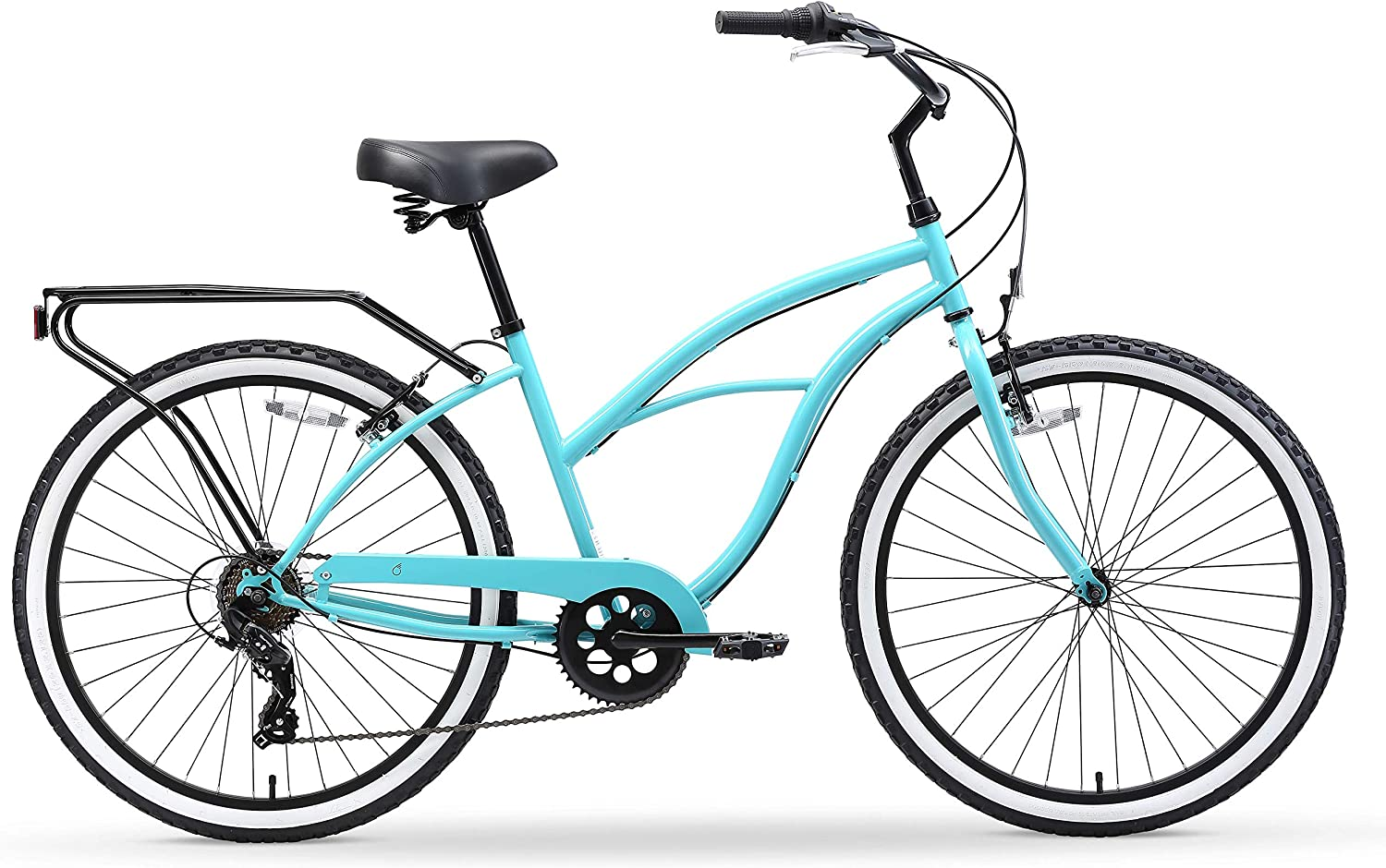 cyan beach bicycle for ladies