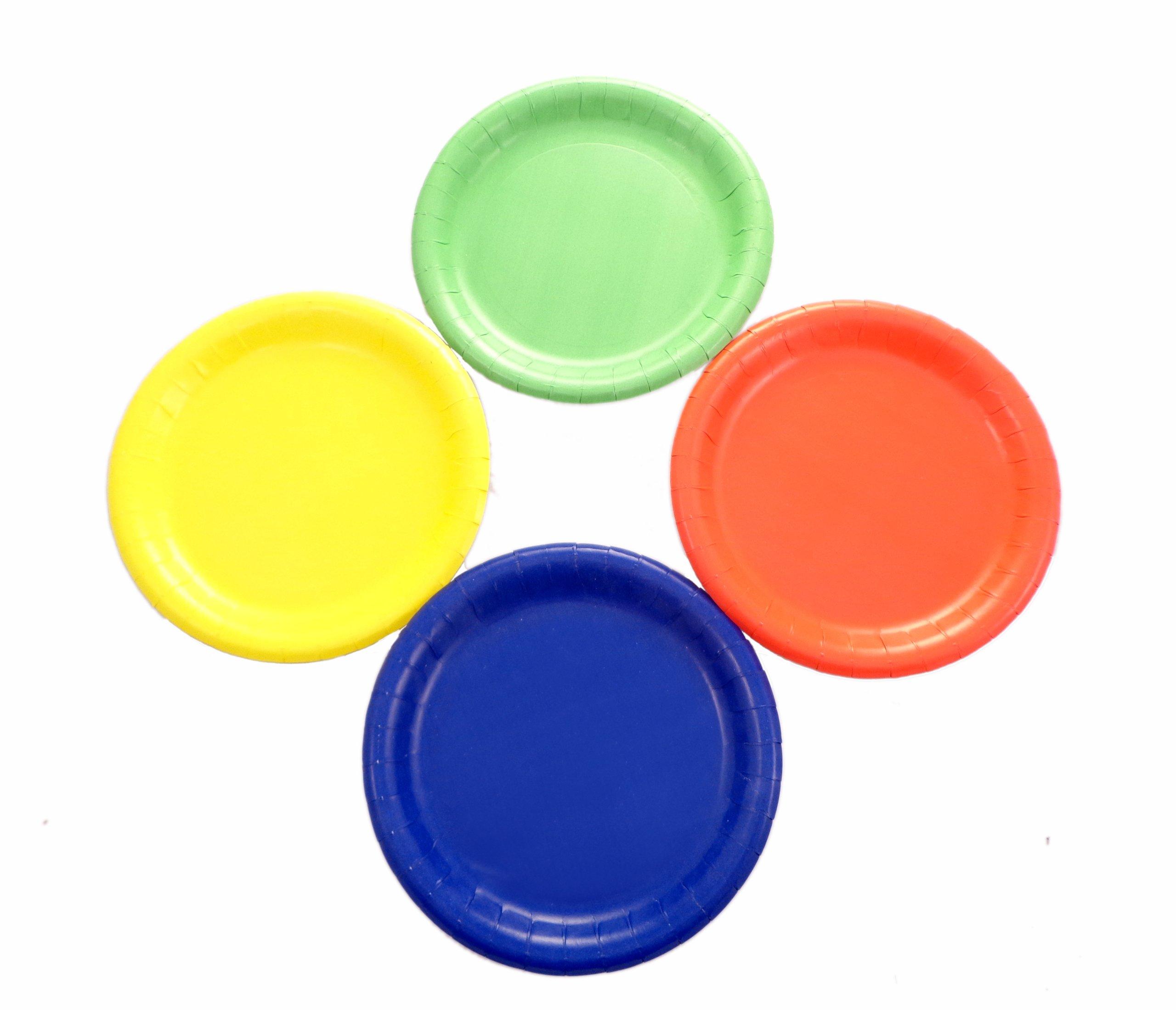 WeGlow International WeGlow International 7'' Paper Plates, Assorted Colors (800-Piece) Bulk Buy
