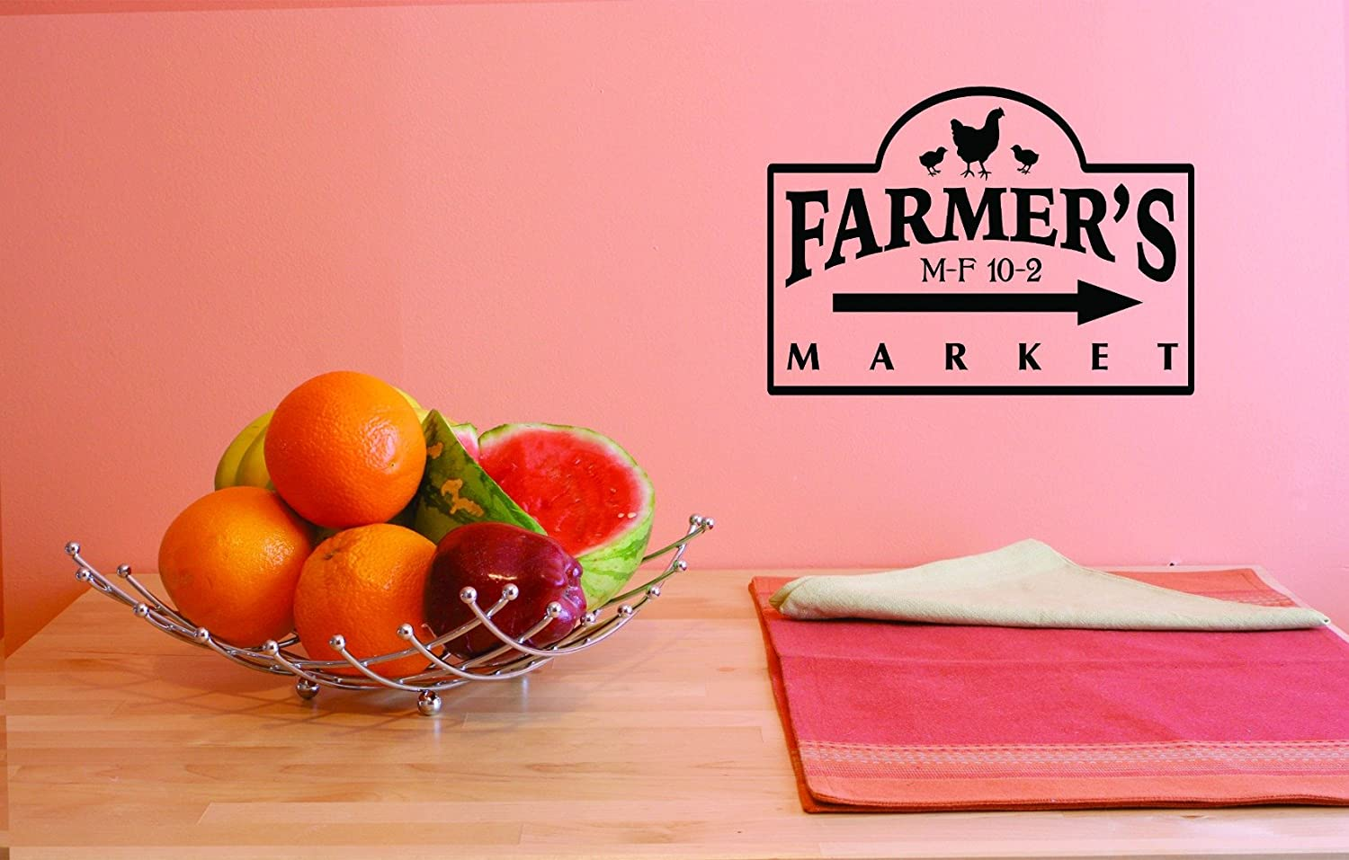 Design with Vinyl JER 1761 3 3 Hot New Decals Farmers Market Wall Art Size 20 inches x 40 inches Color 20 x 40 Black