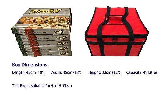 Borsa termica per consegne di ristoranti e pizze da asporto, 45 x 45 x 30 cm