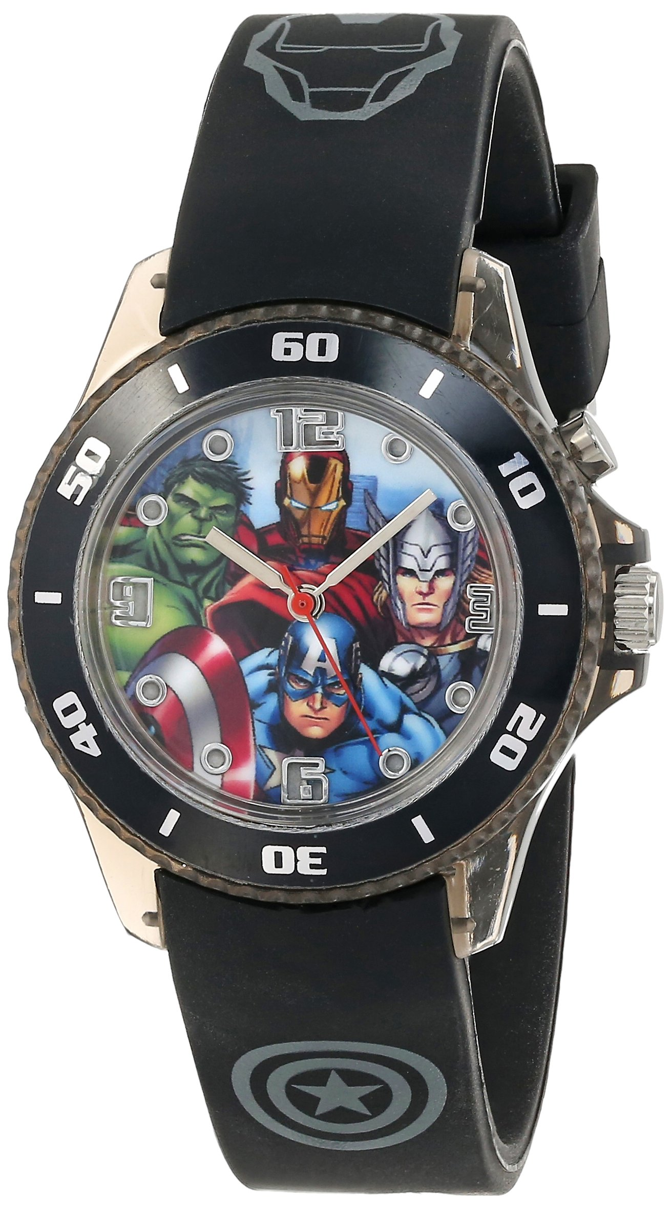 Marvel The Avengers Kids' AVG3508 Watch with Black Rubber Band by Marvel