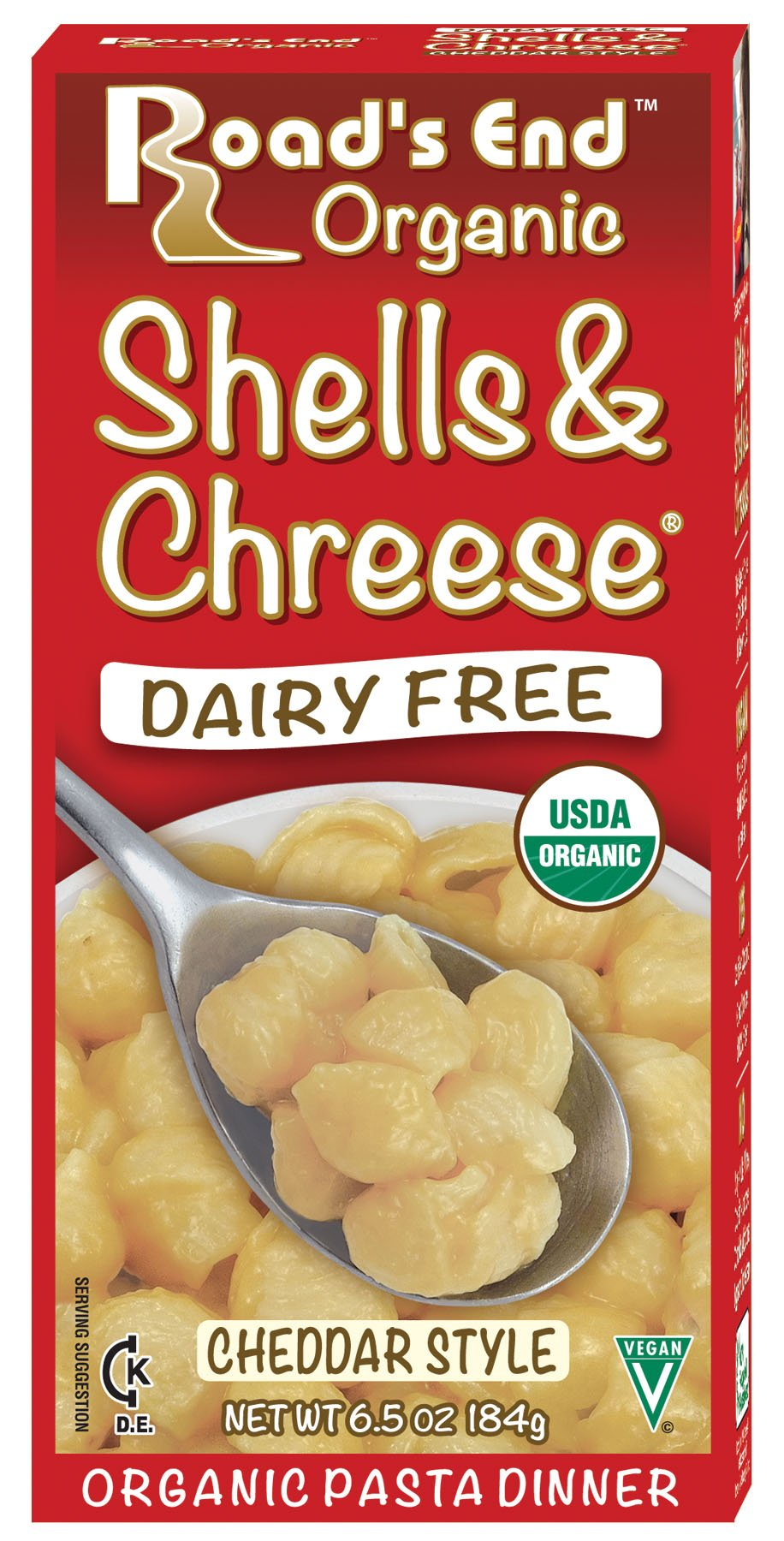 Road's End Organic Shells & Chreese, 6.5 Ounce Boxes (Pack of 12) by Edward & Sons