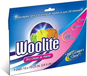 Woolite Dry Clean At Home 10 x 10.25 Inch Cloth