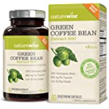 NatureWise Green Coffee Bean 800mg Max Potency Extract 50% Chlorogenic Acids | Raw Green Coffee Antioxidant Supplement & Metabolism Booster for Weight Loss | Non-GMO, Vegan, Gluten-Free [2 Month]