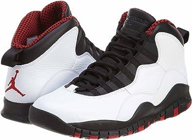Nike Air Jordan Retro - Zapatos de baloncesto para hombre, 10 pulgadas,  color blanco y rojo