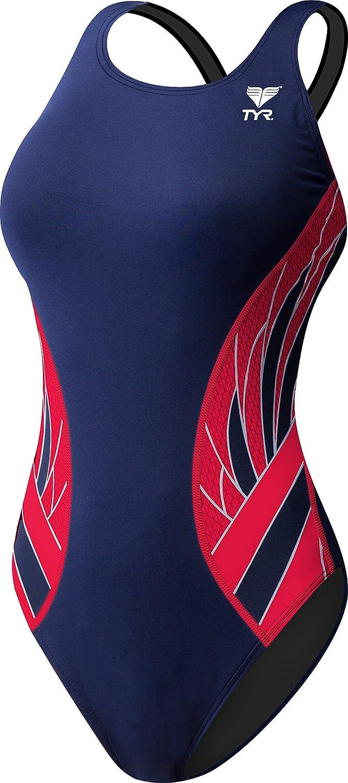 Bleu marine rouge Taille 46 TYR Phoenix Splice Maxfit Maillot de Bain