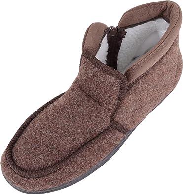 ABSOLUTE FOOTWEAR Mens Microsuede Wide EEE Fitting Slipper//Indoor Shoe with Open Toe