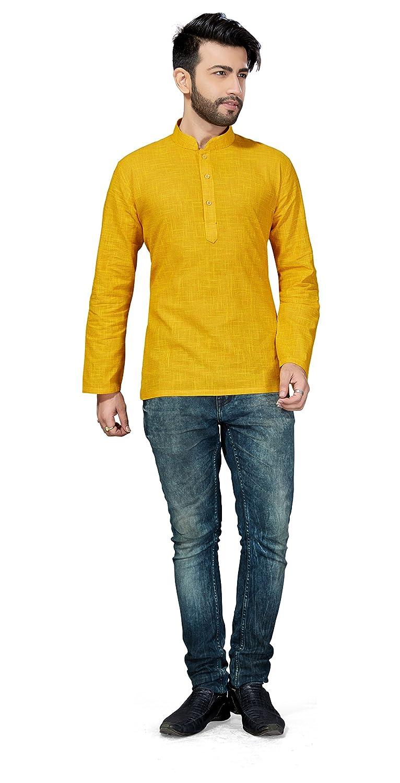 Trendyfashionmall Mens Indian Traditional Short Cotton Kurta Shirt Collection!