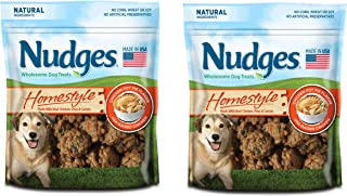 product image for Nudges Homestyle Natural Dog Treats made with Real Chicken, Carrots and Peas 10 ounce (2 pack)