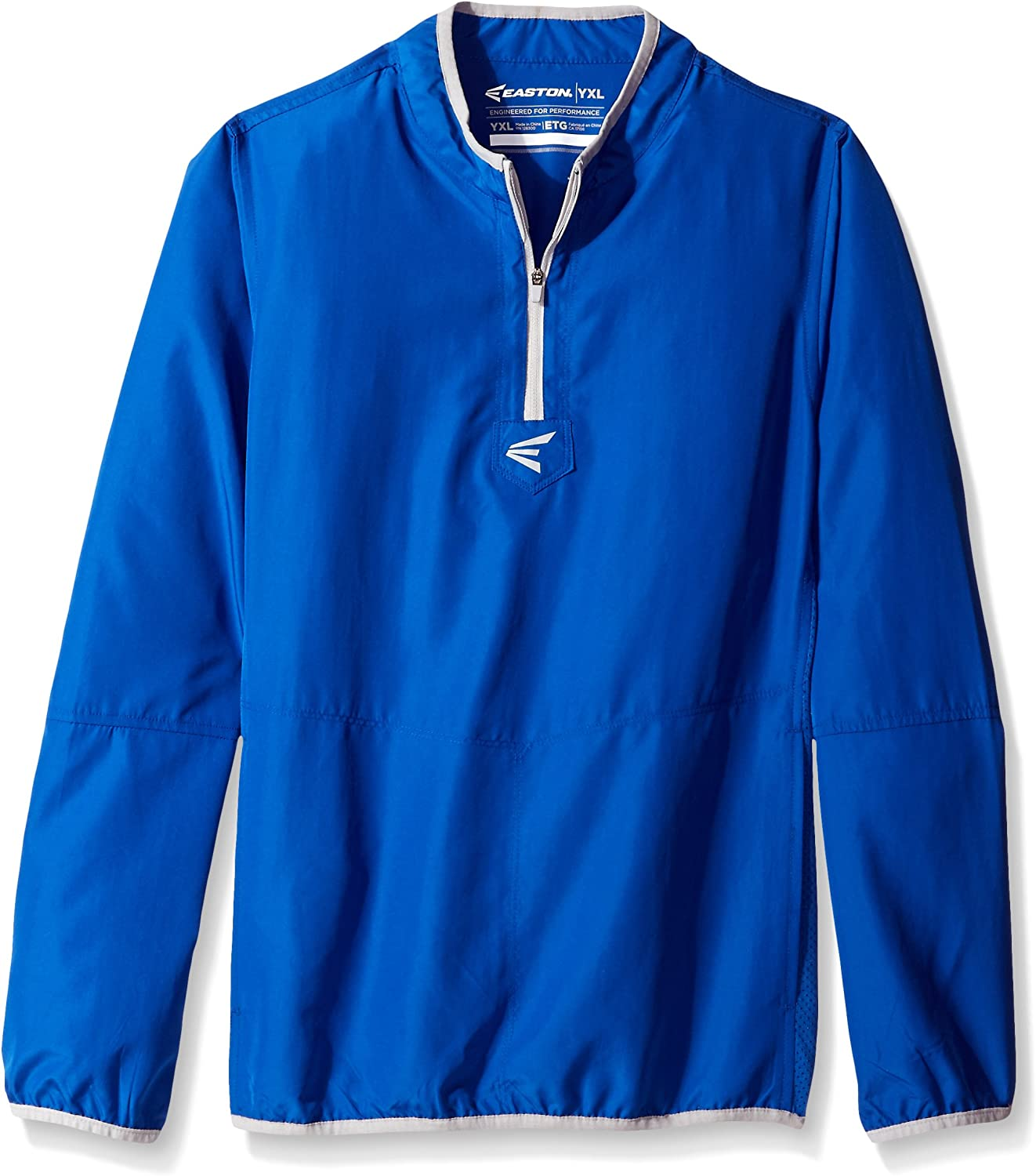 Easton M5 CAGE Long Sleeve Jacket   2020   Lightweight, Mobility Breathable Design for Game Day   Practice   Off Field Use   Baseball   Elastic Bound Hem + Neck + Cuffs   Customizable w/Decorations