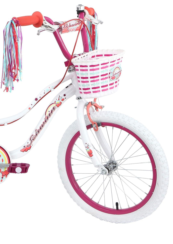 Schwinn Girls Mythic Unicorn Kids Bike White 18 Age 5+