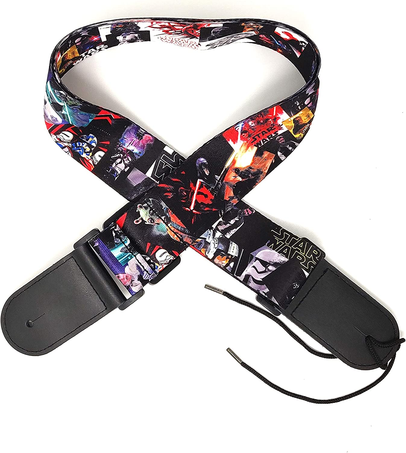 Polyester with genuine leather StarWars 2 Inches Wide Guitar Straps