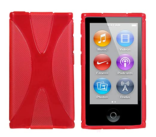 4 opinioni per Mumbi- Custodia in X-TPU e silicone per iPod Nano 7G, Rosso