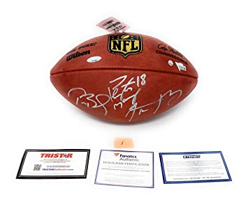 6fecf2af7 Tom Brady Aaron Rodgers Peyton Manning TRIPLE Signed Autograph NFL Authentic  Duke NFL Football Steiner Sports