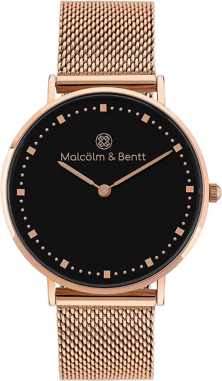Malcölm & Bentt | Reloj Mujer de Pulsera | Rose Gold/Black ~ Mesh ...