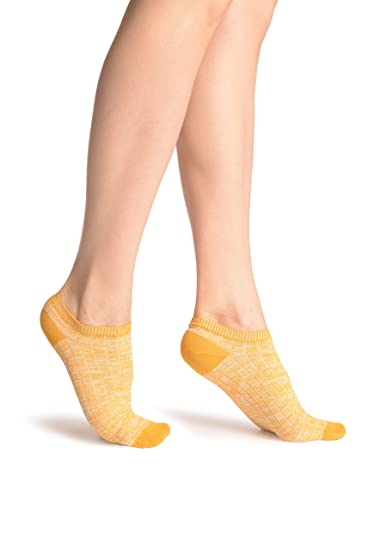 Orange Melange Footies - Footsies Socks - Naranja Calcetines Tobilleros Talla unica (37-42