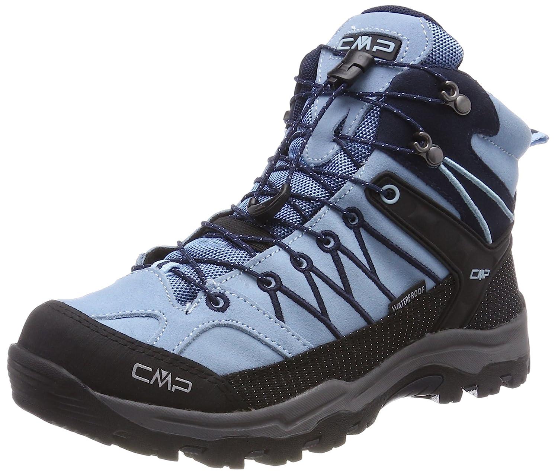 Turquoise (Glass-b.bleu) 32 EU CMP Campagnolo Rigel Mid WP, Chaussures de Randonnée Hautes Mixte Adulte
