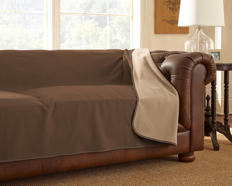 "100% Waterproof Mambe Furniture Cover (Sofa 70""x 120"", Chocolate-Cappuccino)"