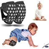 Professional Baby Knee Pads for Crawling, Easily Adjustable Anti-Slip Knee Pads, Soft and Breathable Baby Knee Pads, Knee Warmer and Protector for Baby Girls and Boys (Gray)