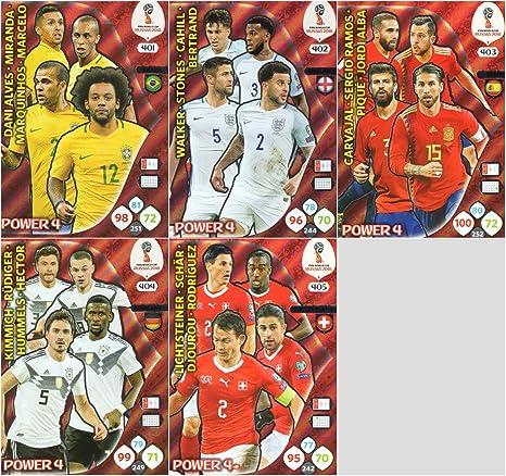 ADRENALYN XL FIFA World Cup 2018 – Juego completo de cinco (5) tazas de alimentación 4 tarjetas – # 401-405: Amazon.es: Deportes y aire libre