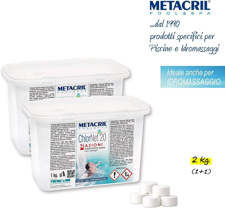 Metacril Chlor Net 20 4 acciones – Cloro Piscina multiacción en ...