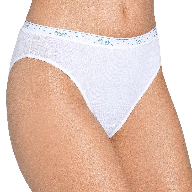 3c2d652e8418 Sloggi 100 Tai Briefs,White,High Leg,Cotton Knickers Sizes 10-18:  Amazon.co.uk: Clothing