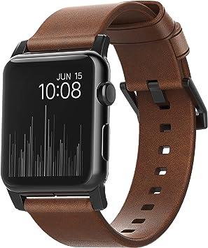 NOMAD Horween - Correa de Piel para Apple Watch (42 mm), Color marrón: Amazon.es: Electrónica