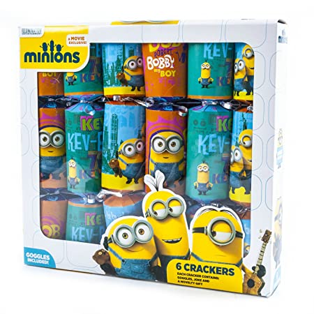 despicable me minions 6x christmas party crackers dinner table decorations toy gift - Minions Christmas Decorations