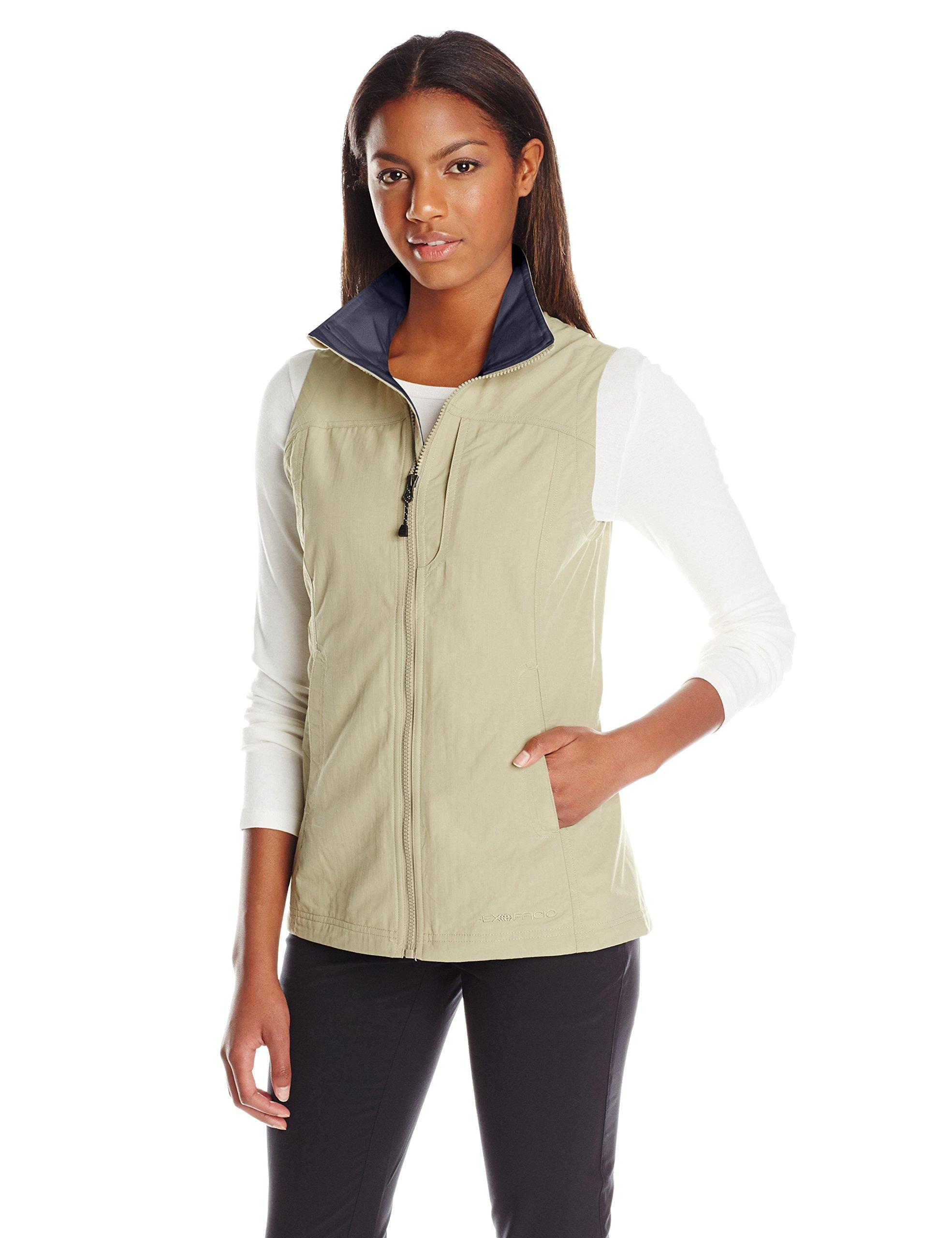 ExOfficio Women's FlyQ Lite Vest, Safari, Small