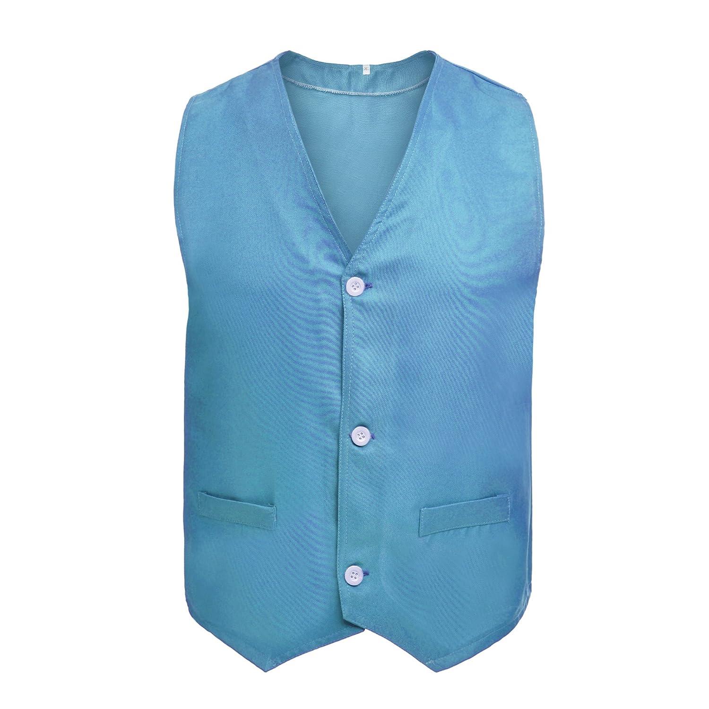 TOPTIE Button Vest Twill Volunteer Activity Vest Waistcoat for Children