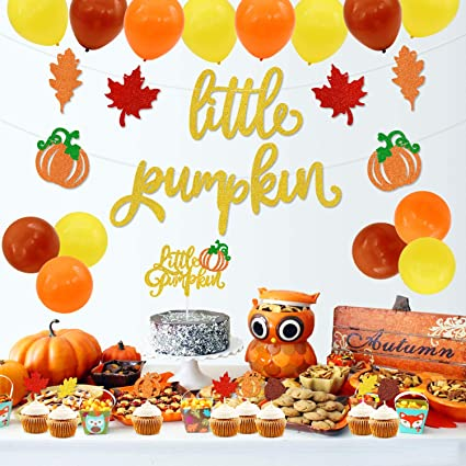 Thanksgiving Party Favors for Family and Kids Little DIY Required Happy Thanksgiving Pumpkin Pack of 24 Beautiful Cake Toppers -Turkey Thanksgiving Cake Topper for Thanksgiving Decorations