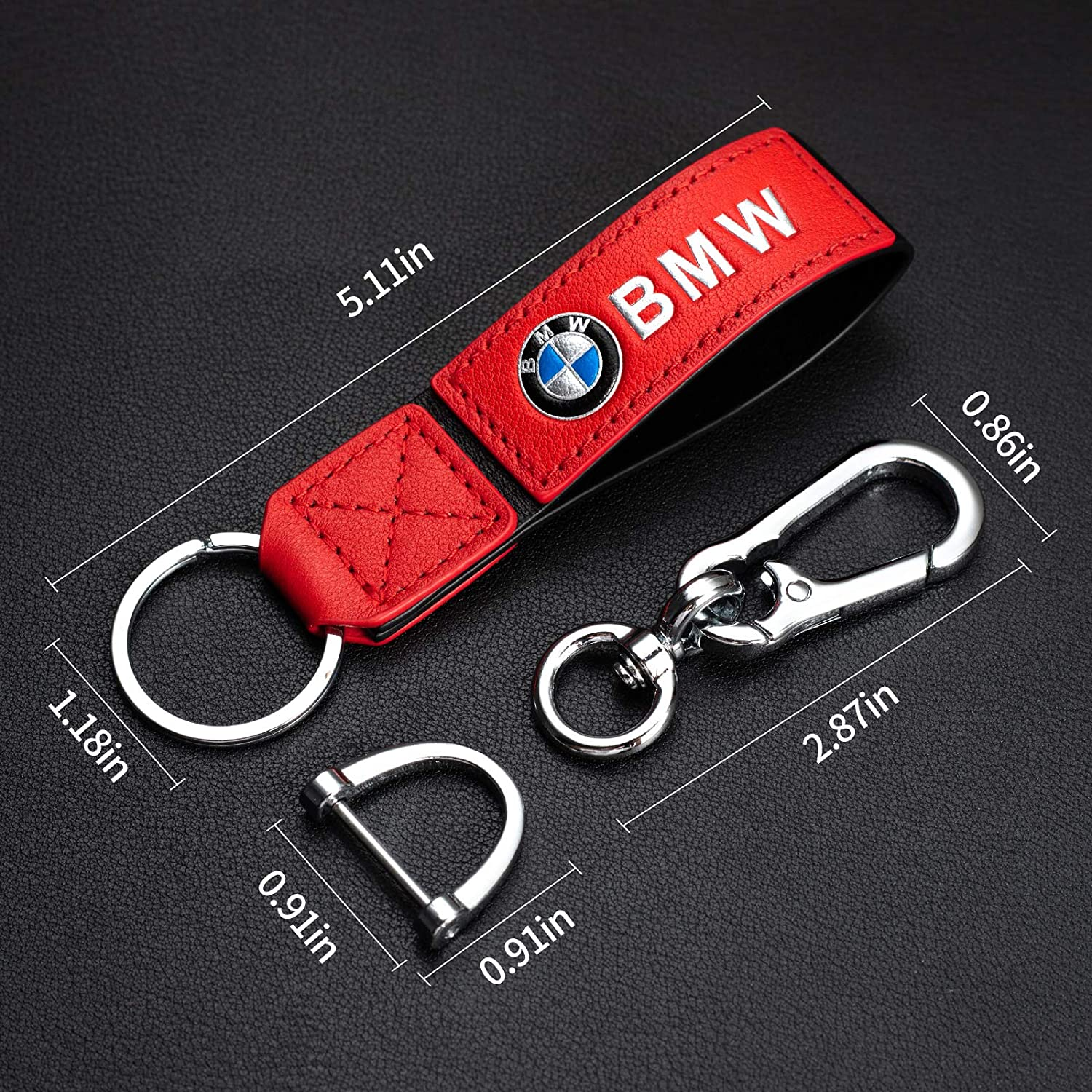 Genuine Leather Car Key Chain Keyring Keychain for Men and Women Accessories for Audi A1 A3 A4 Q5 Q7 R8 S5 S7 RS A5 A6 A7 A8