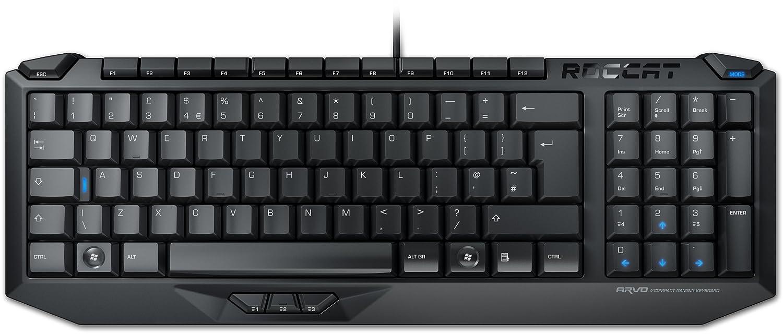 Roccat Arvo - Teclado gaming (QWERTY Español, USB, iluminación LED), negro: Amazon.es: Informática