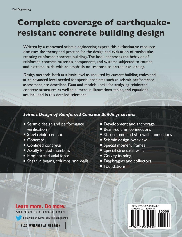 Seismic design of reinforced concrete buildings jack moehle seismic design of reinforced concrete buildings jack moehle 9780071839440 books amazon fandeluxe Images