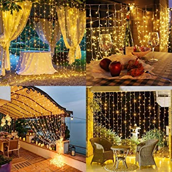 LED Curtain Fairy Lights USB String Hanging Wall Light Indoor Chriatmas Party