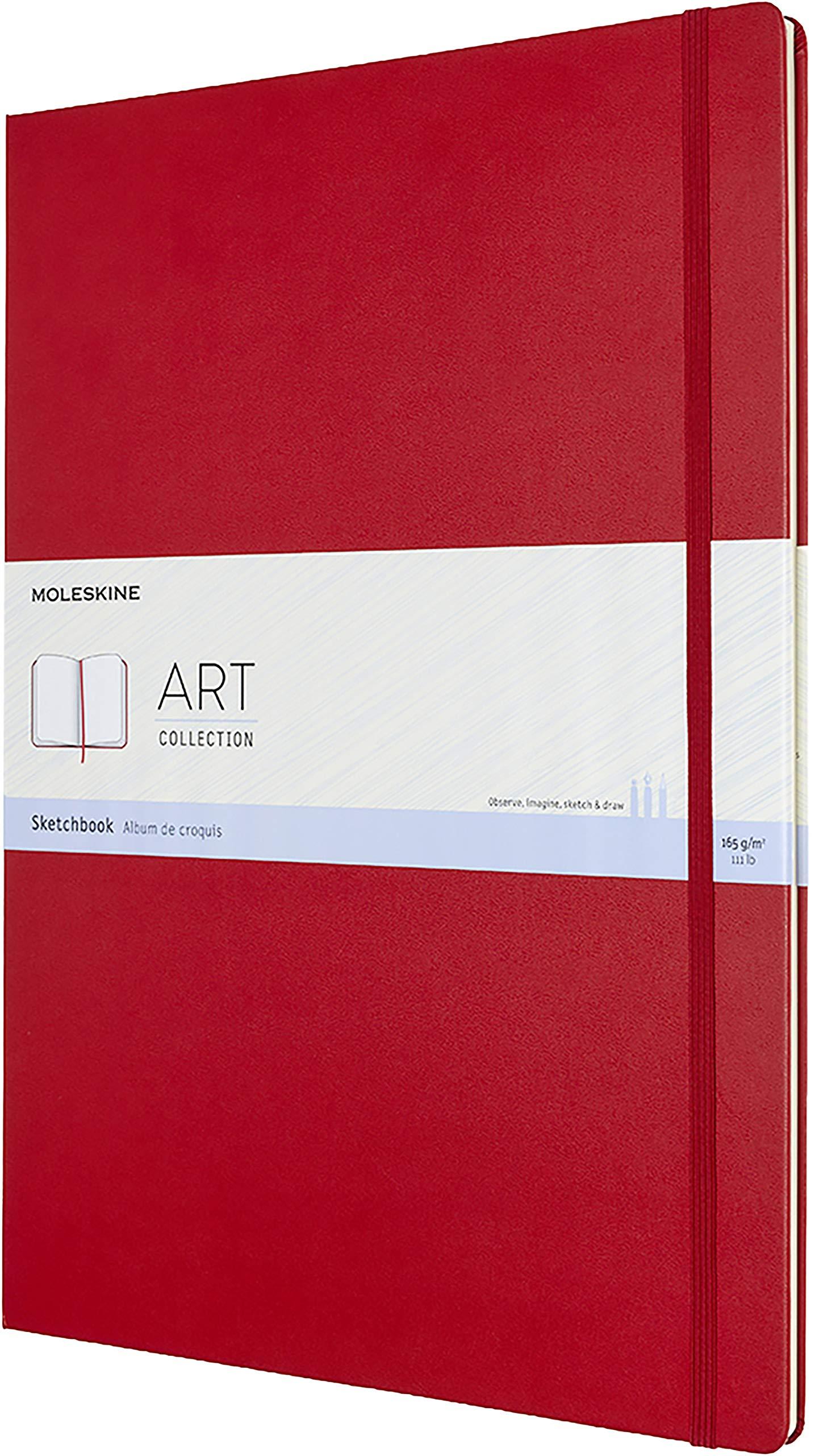 Moleskine Art Sketchbook, Hard Cover, A3 (11.75'' x 16.5'') Plain/Blank, Scarlet Red