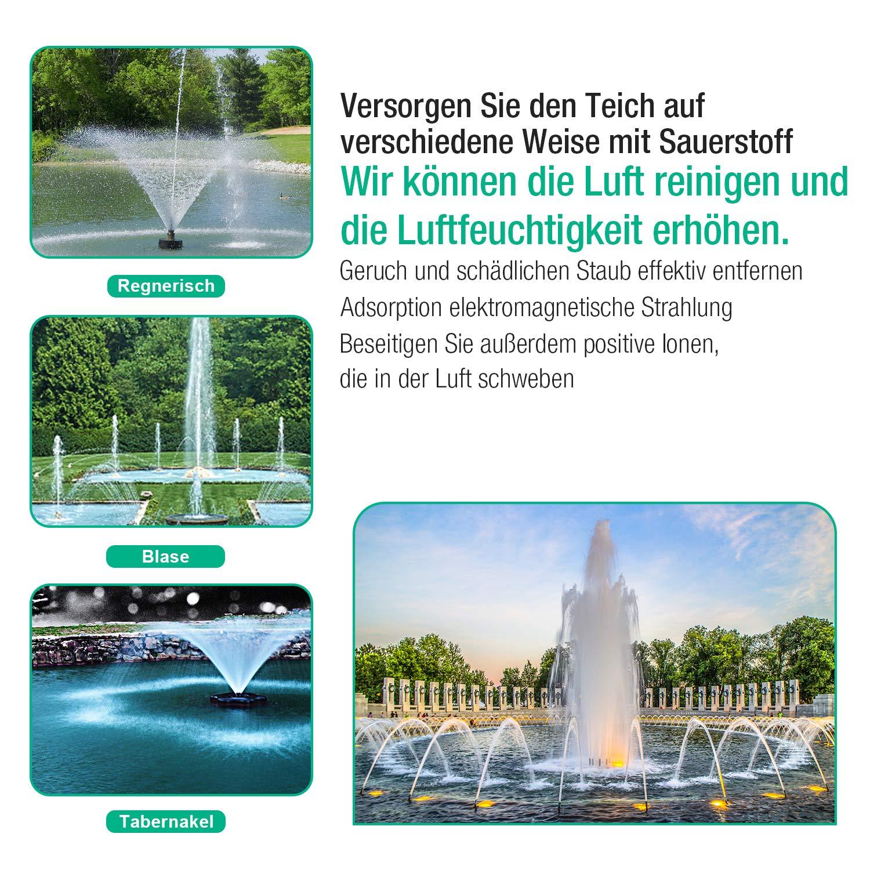22W 1000 L//H Springbrunnenpumpe Teichpumpe Teich Fontäne Wasserpumpe Gartenpumpe