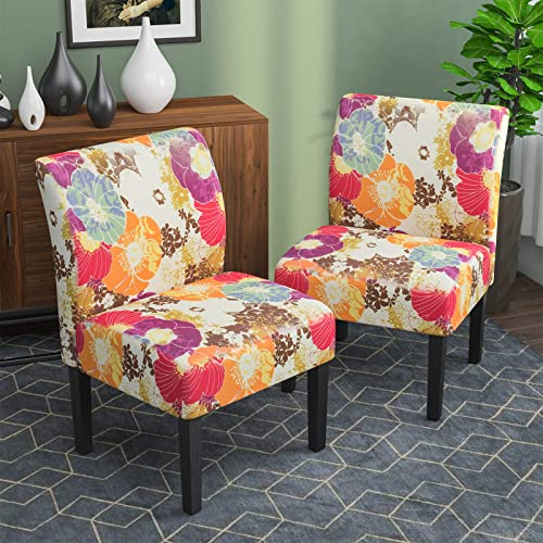Armless Accent Chairs Set of 2
