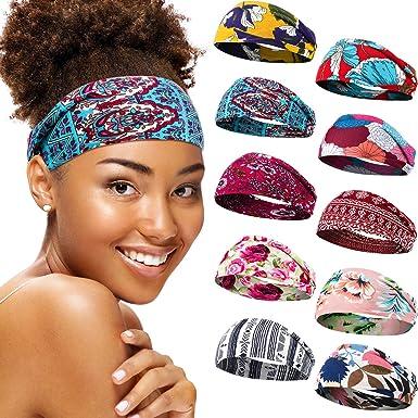 Wide Sports Yoga Gym Stretch Cotton Headband Head Hair Band Girls Women Kids uk