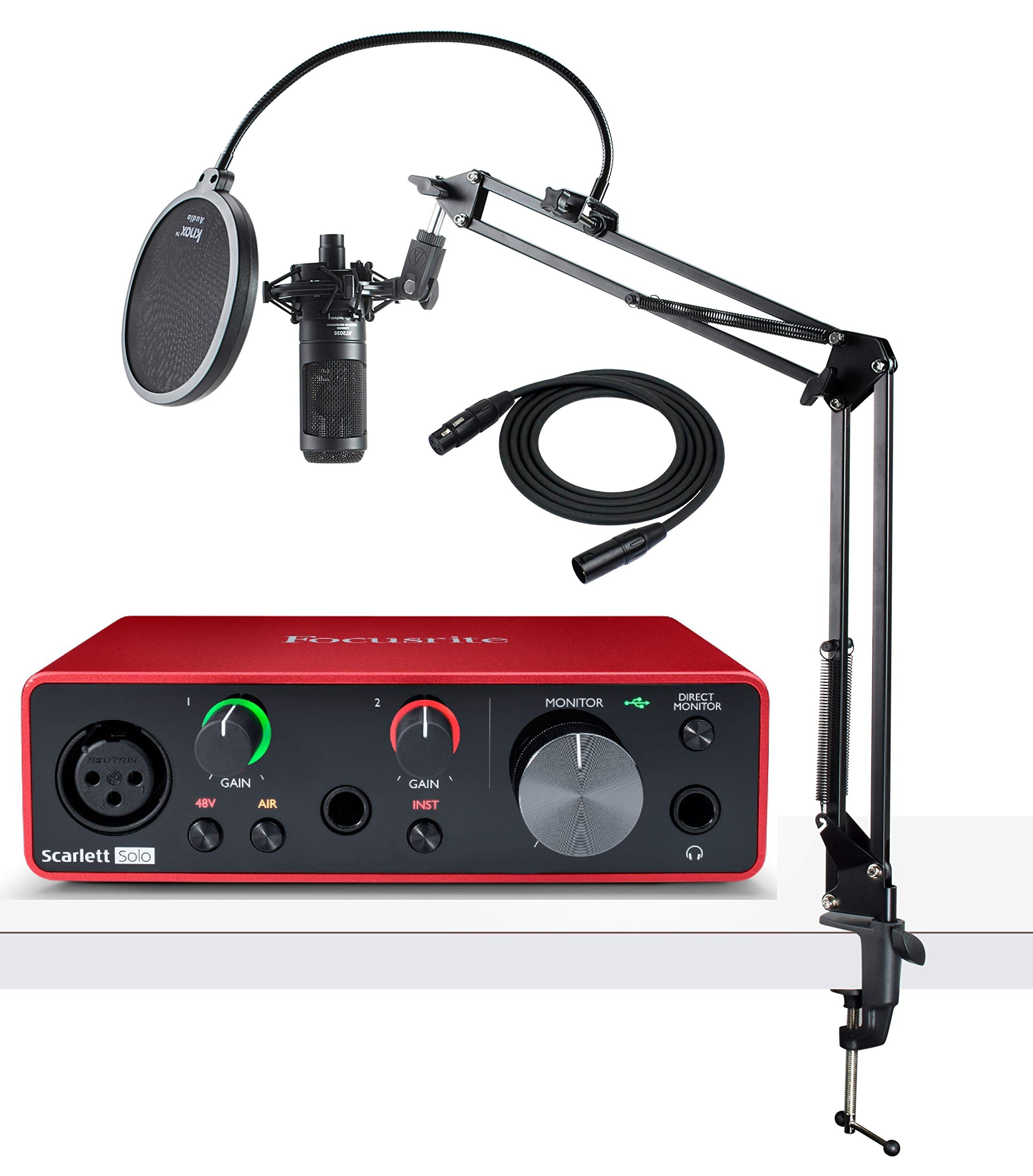 Focusrite Solo (3ra Gen)  paquete de interfaz de audio US..2