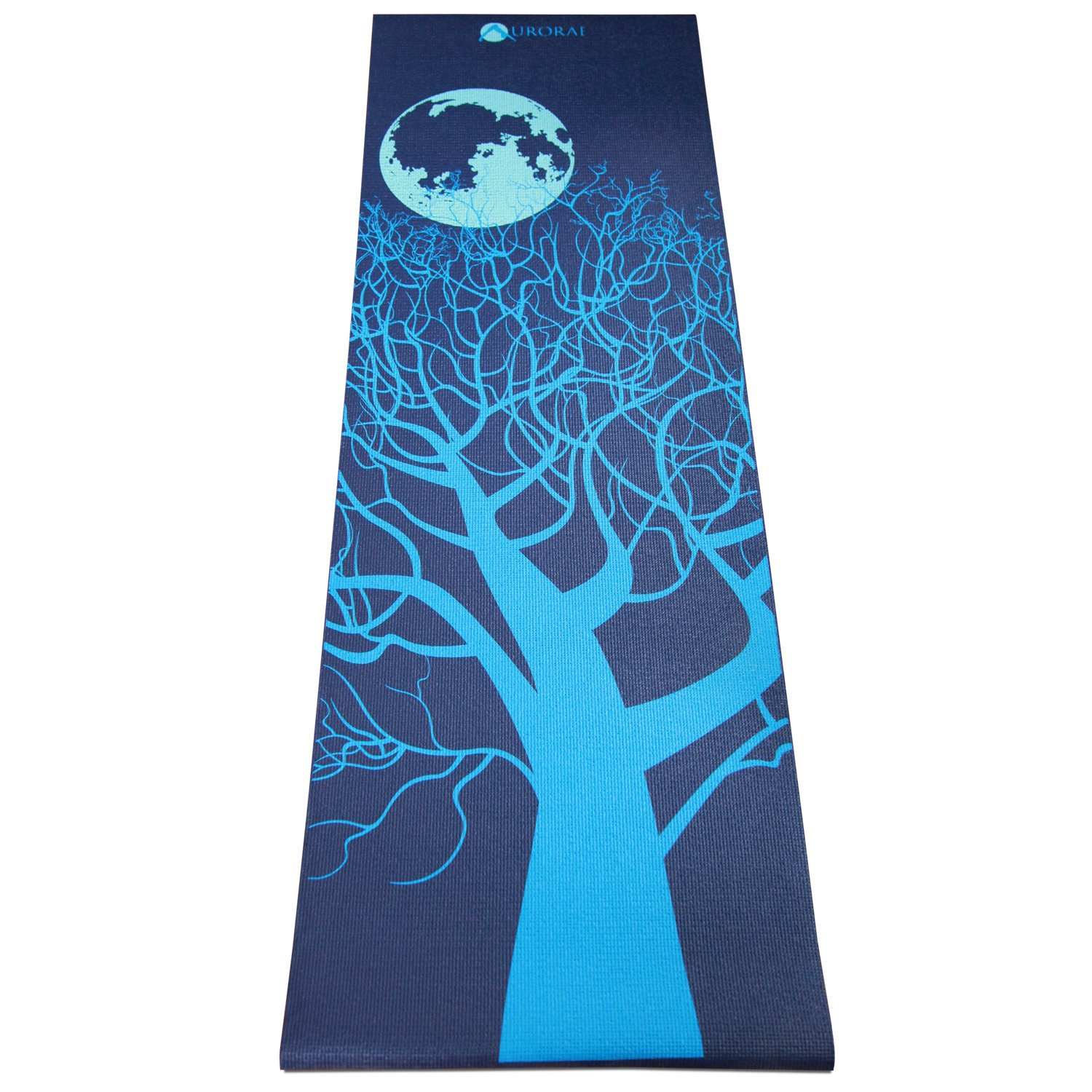Aurorae Printed Extra Thick 5mm and 72'' Long Premium Eco Safe Yoga Mat with Non Slip Rosin
