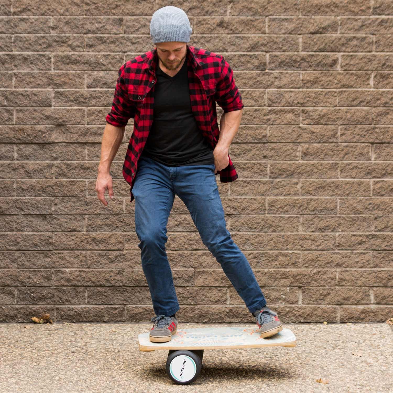 Driftsun Wooden Balance Board - Premium Balance Trainer with Roller for Surf, SUP, Wakesurf, Wakeskate, Ski, Snowboard and Skateboarding. by Driftsun (Image #5)