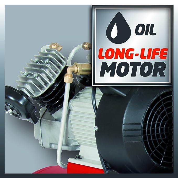 Einhell Compresor TC de AC 400/50/8, 2,2 kW, 50 L, potencia de aspiración 400L/min, 8 bares, Durck Schlager, 4010185 2200 wattsW, 230 voltsV: Amazon.es: ...