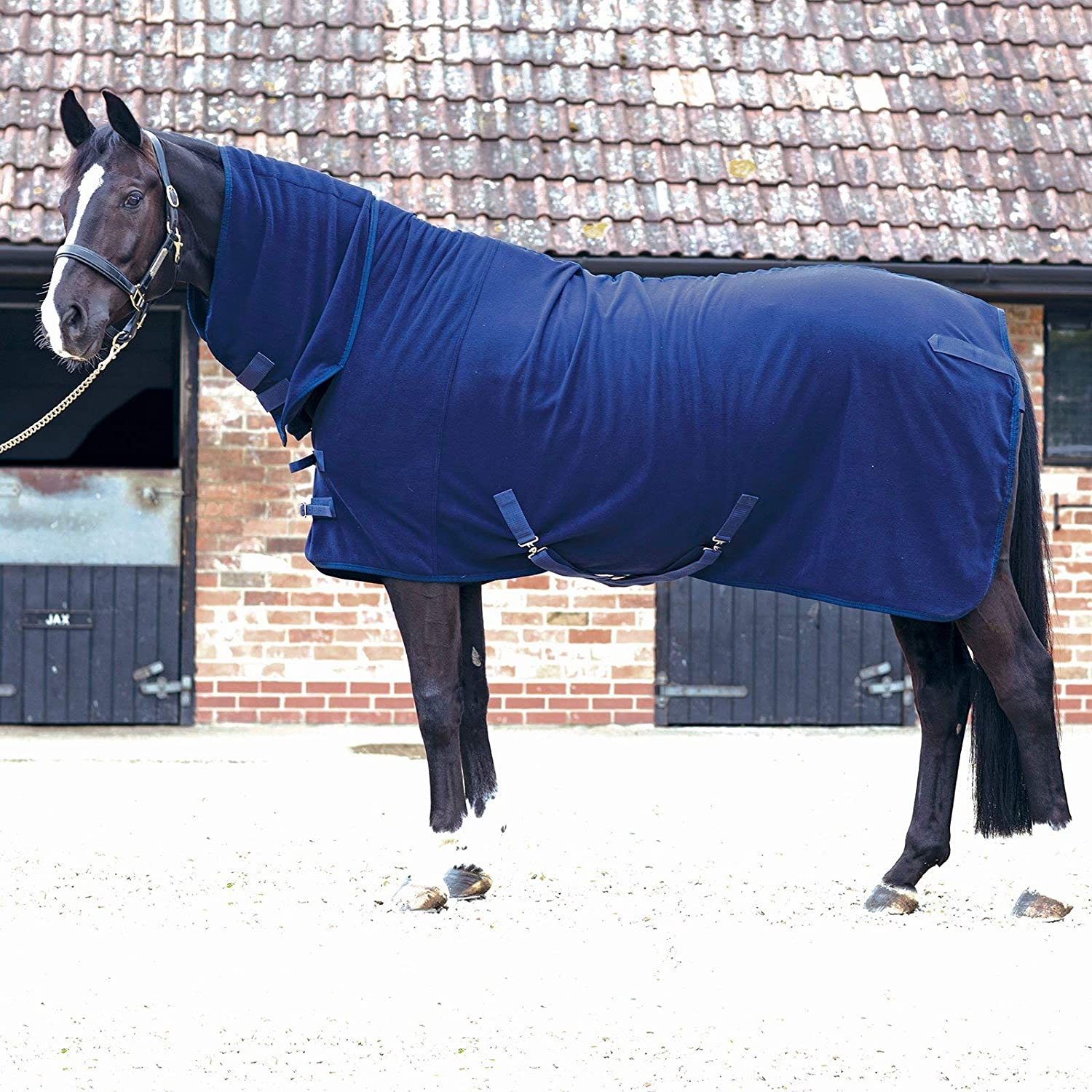 JHL Fleece Combo Fleece Rug 6ft Navy