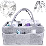 Putska Diaper Caddy Organizer Set: Portable Wipes Holder Bag for Changing Table and Car, Baby Nursery Essentials Storage…