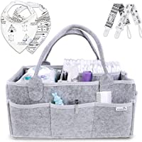 Putska Baby Diaper Caddy Organizer: Portable Holder Bag for Changing Table and Car...